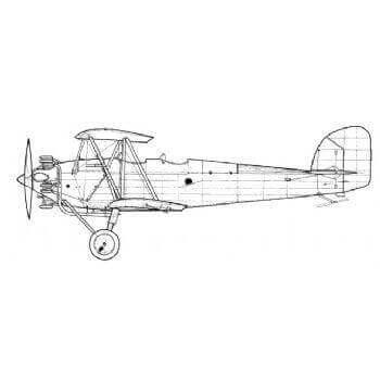 Hawker Tomtitt Line Drawing 2953