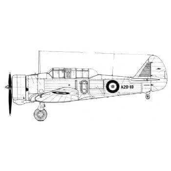 Commonwealth Wirraway Line Drawing 2951