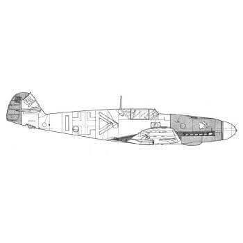 Messerschmitt Bf109 Line Drawing 2945