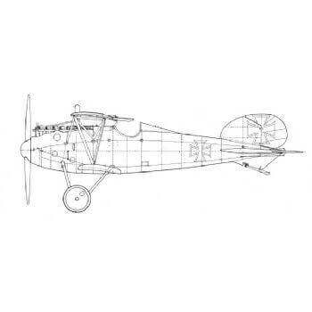 Albatros DV And DVA Line Drawing 2944