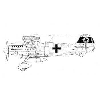 Heinkel He 51 A1,B1 Line Drawing 2929