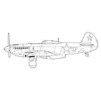 Yak 9 Line Drawing 2928