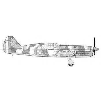 Caudron CR714 Line Drawing 2924