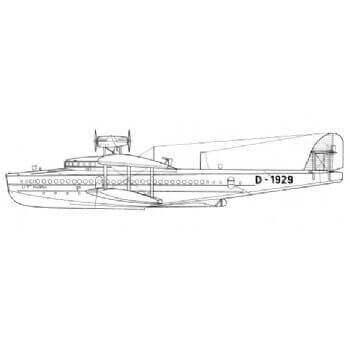 Dornier Do X Line Drawing 2917