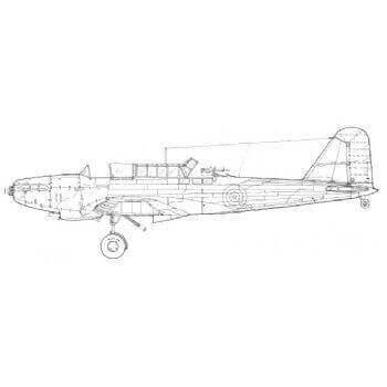 Fairey Battle (JF) Line Drawing 2914