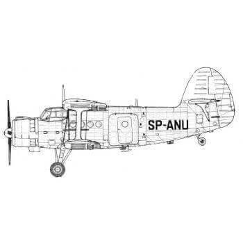 Antonov (AF) Line Drawing 2912