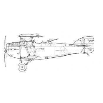 Potez 25 Line Drawing 2911
