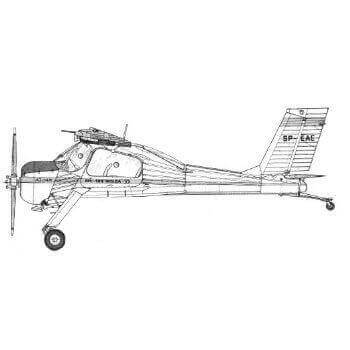 PZL Wilga 32 & 35 Line Drawing 2910