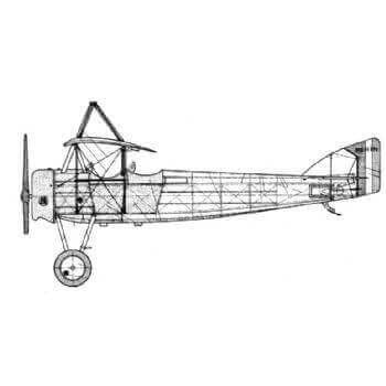 Morane Saulnier 35EP2 Line Drawing 2908