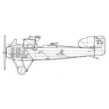 Breguet 14A2 And B2 Line Drawing 2903
