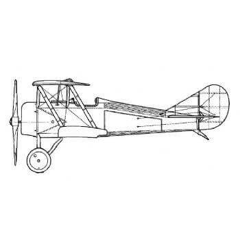 Thomas Morse S-4C Scout Line Drawing 2887