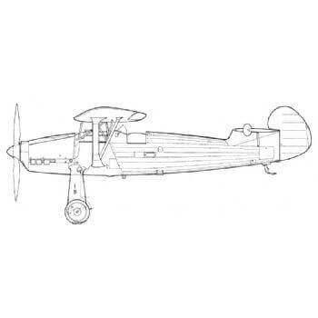 Focke Wulf Fw 56 Stosser Hawk Line Drawing 2869