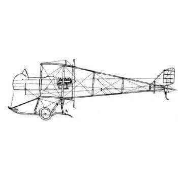 Maurice Farman MF7 Shorthorn Line Drawing 2864