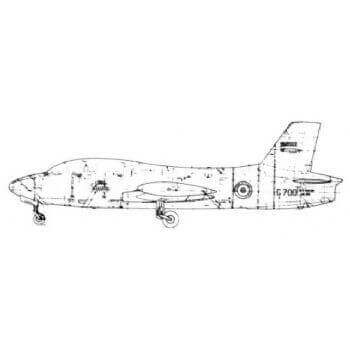 Macchi MB 326 Line Drawing 2863