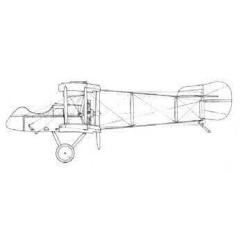 De Havilland D.H.2 Line Drawing 2833