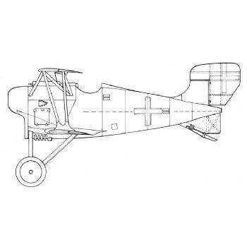 Siemens Schuckert DI/III/IV Line Drawing 2826