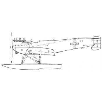 Hansa Brandenburg W - 29 Line Drawing 2816