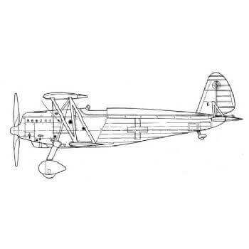 Arado 68G Line Drawing 2815
