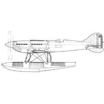 Macchi Castoldi MC- 72 Line Drawing 2800