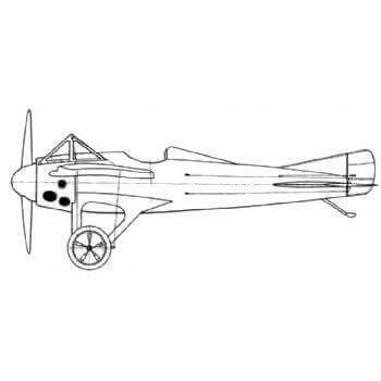 Deperdussin Racer Line Drawing 2799