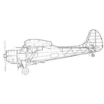PZL 101 Gawron Line Drawing 2784