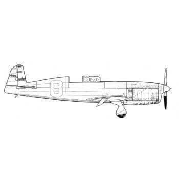 Caudron C.460 Line Drawing 2782