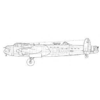 Avro Lancaster Mk.1, Mk.3 (Special) Line Drawing 2781