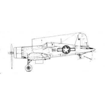 F4U-1 Corsair Line Drawing 2774