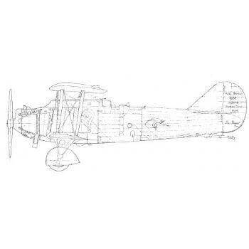 Breguet XIX Line Drawing 2760