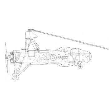Avro Rota Cierva C. 30A Line Drawing 2758