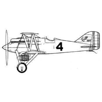 Curtiss CR 3 & CR 2 Line Drawing 2755