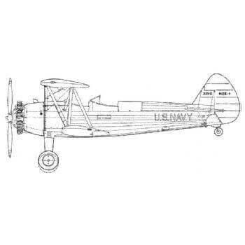 Boeing Stearman PT 13-17-18 And N2S 1,2,4 And 5 Line Drawing 2753