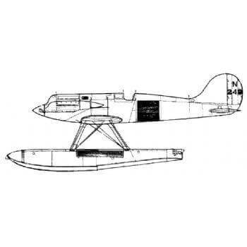 Gloster VI Line Drawing 2742