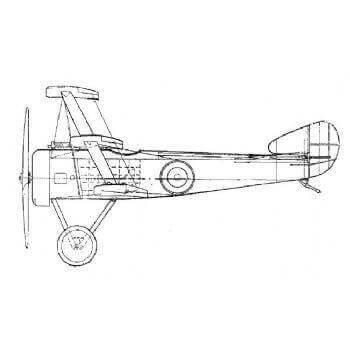 Sopwith Triplane Line Drawing 2741