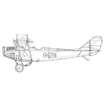 Curtiss JN 4D 'Jenny' Line Drawing 2739