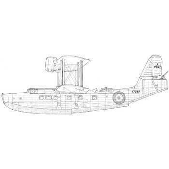 Vickers Supermarine 'Stranraer' Line Drawing 2725