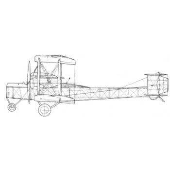 Vickers Vimy Line Drawing 2722