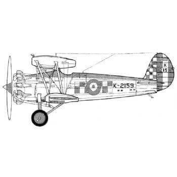 Bristol Bulldog IIA Line Drawing 2718