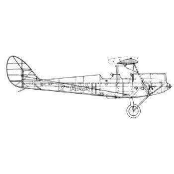 De Havilland D.H.60 Moth Line Drawing 2708