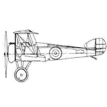 Sopwith F1 Camel Line Drawing 2699