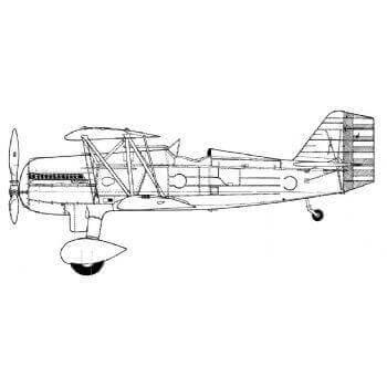 Curtiss P6E Hawk & F11C-2 Goshawk Line Drawing 2698