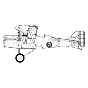 SE5a (Royal Aircraft Factory) Line Drawing 2694