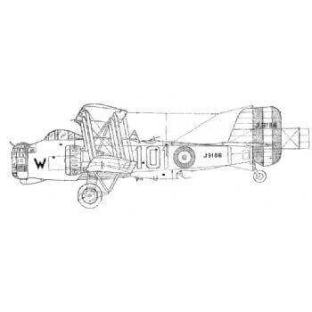 Boulton Paul Overstand Line Drawing 2689