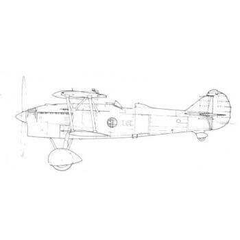 Fiat CR 42 Line Drawing 2674