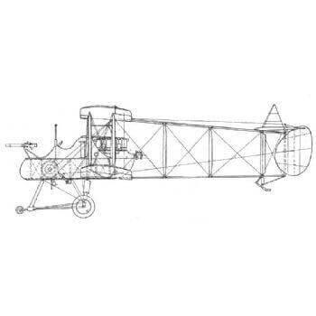 F.E 2B (Royal Aircraft Factory) Line Drawing 2669