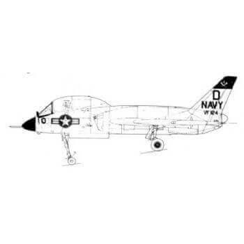 F7U Cutlass Line Drawing 2658