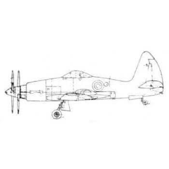 Wyvern TF4 Line Drawing 2398
