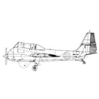 SB6 Seamew Line Drawing 2317