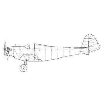 Dart Kitten II Line Drawing 2124