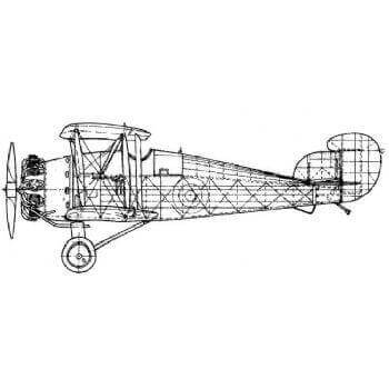 Hawker Woodcock Line Drawing 2049